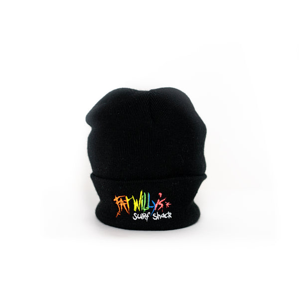 Fat Willy's beanie hat newquay black