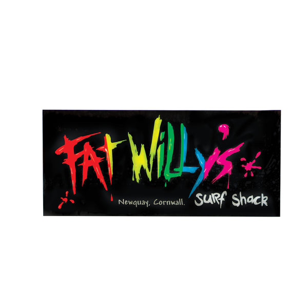 Fat Willy's Surf Shack Newquay car sticker