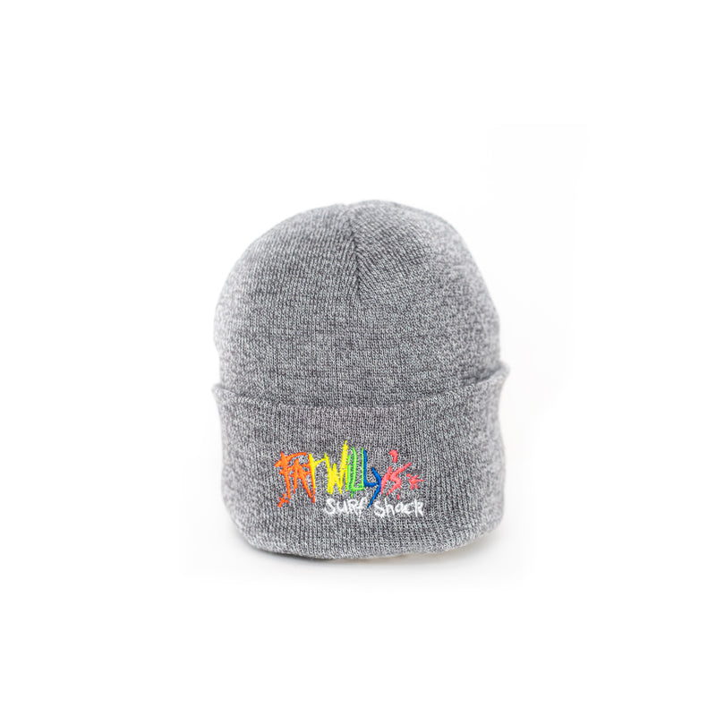 Fat Willy's beanie hat newquay ash grey