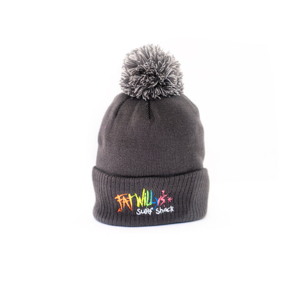 Fat Willy's adult bobble hat charcoal grey