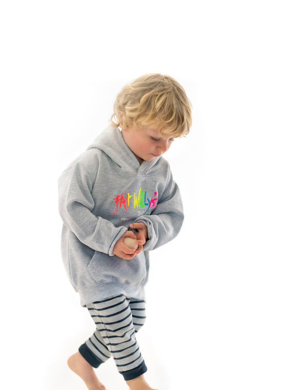Fat Willy's Newquay toddler hoodie in grey