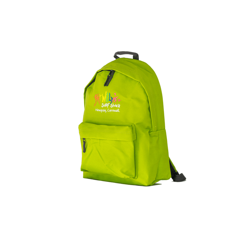 Fat Willy's Surf Shack Newquay backpack bag in lime green