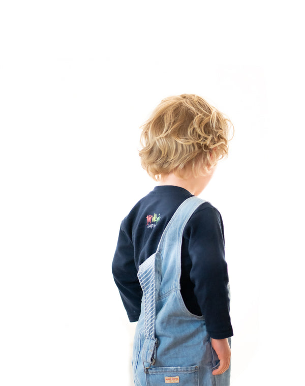 Fat Willy's Newquay toddler long sleeve t-shirt in navy blue