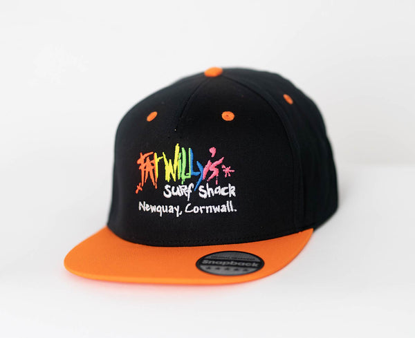 Fat Willy's Newquay Kids Snap Back Cap in Orange
