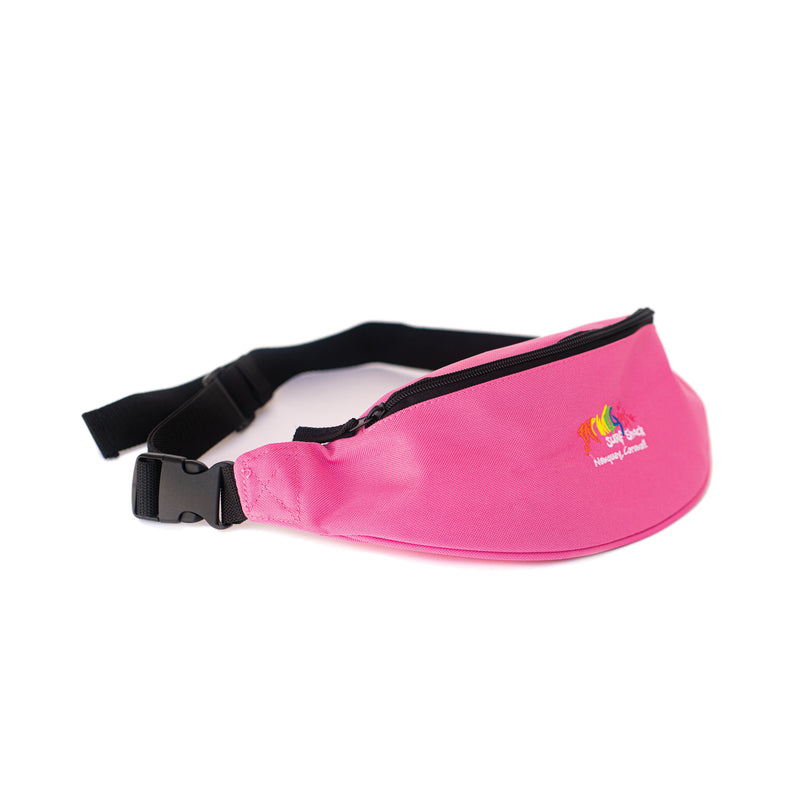 Fat Willy's Newquay bum bag in hot pink
