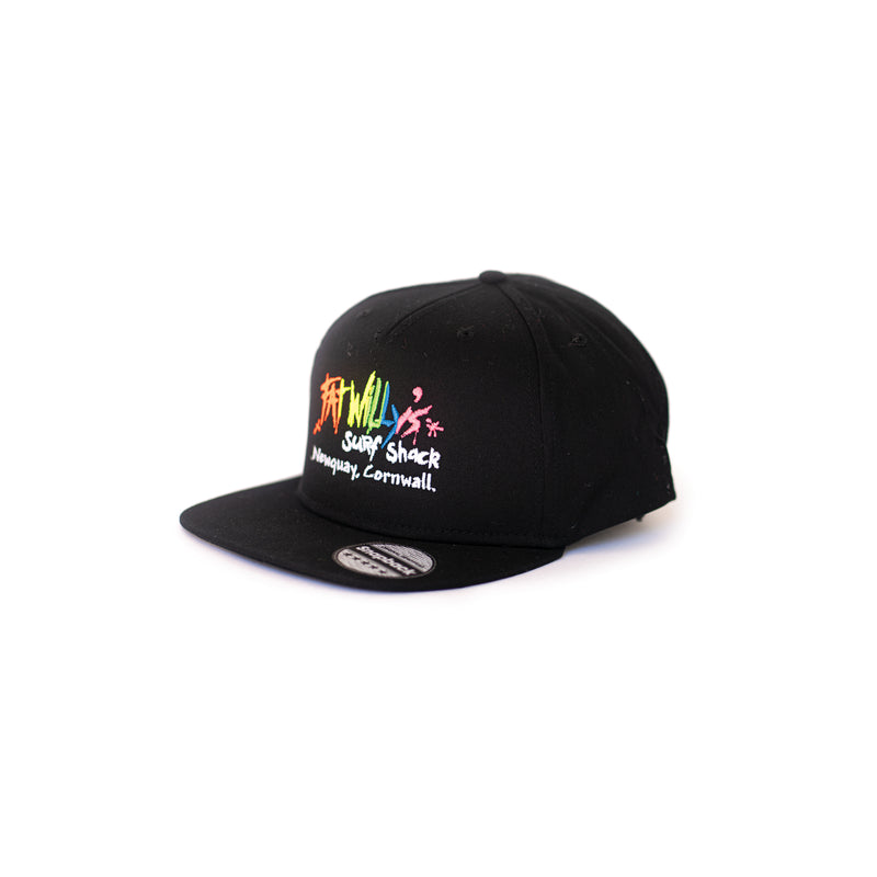 fat willy's newquay snapback cap in black
