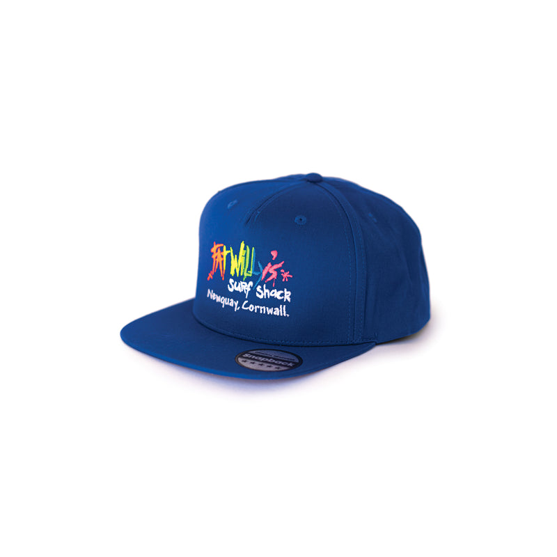 fat willy's newquay snapback cap in blue