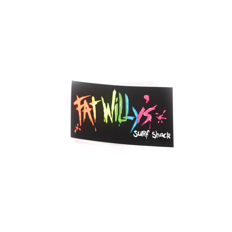 Fat Willy's Surf Shack Newquay small board sticker
