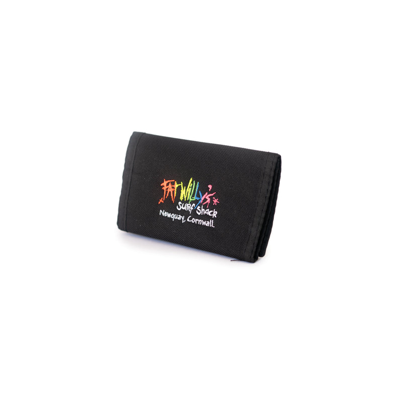 Fat Willy's surf shack newquay neon surfer wallet in black
