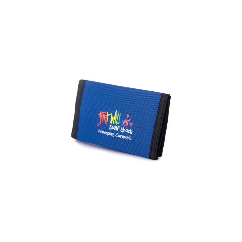 Fat Willy's surf shack newquay neon surfer wallet in blue