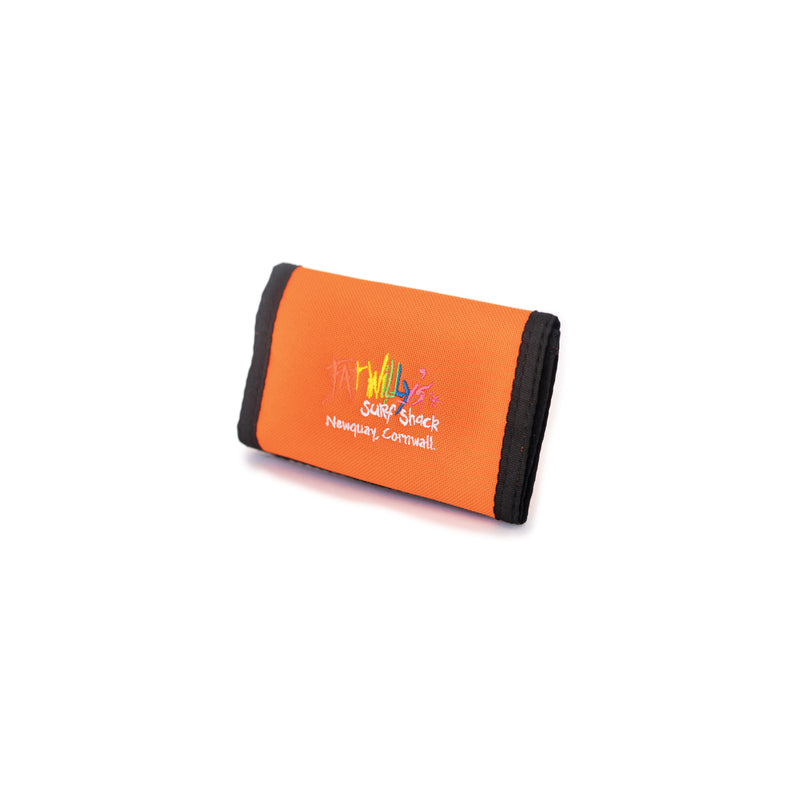 Fat Willy's surf shack newquay neon surfer wallet in orange