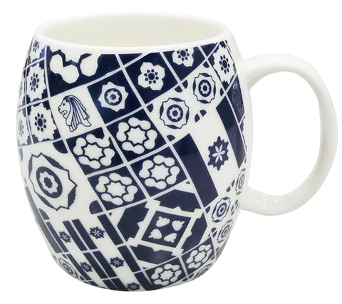 Mug Peranakan Mix Navy Blue </br> *NEW*