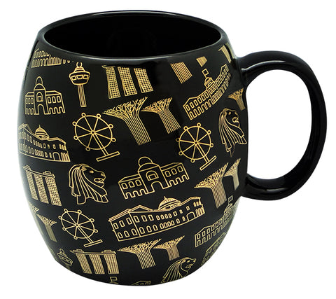 Black Mug Motif Gold </br> *NEW*