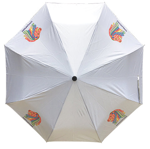 Umbrella Peranakan Foldable Silver