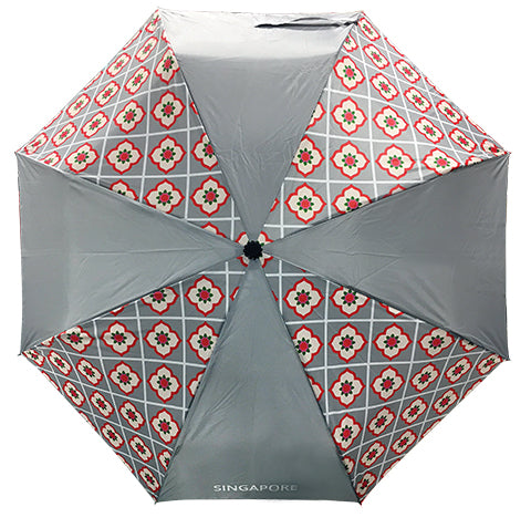 Umbrella Peranakan Foldable Grey