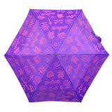 Umbrella Motif Foldable Purple (Lightweight & UV coated)