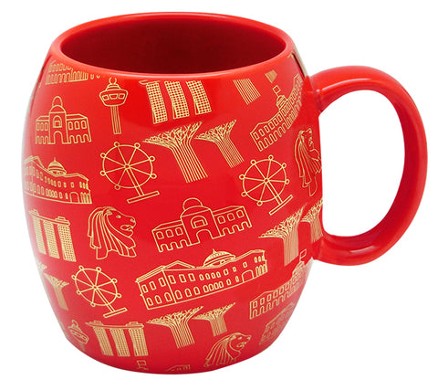 Red Mug Motif Gold </br> *NEW*