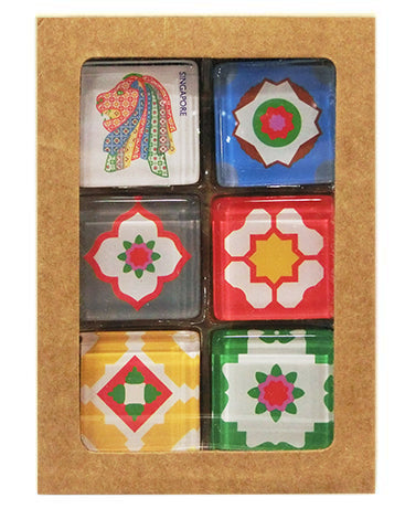 Magnet Glass Square Peranakan