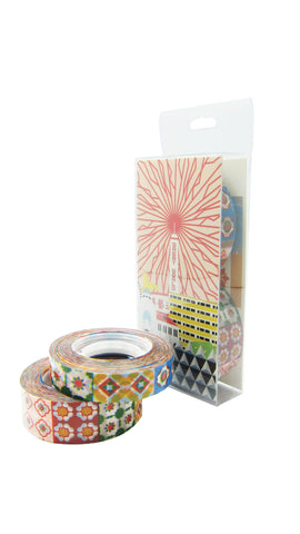 "Peranakan Tiles Stationery Washi Tape <br/>(1/2"" & 3/4"" Set)"
