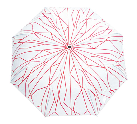 Umbrella Supertree Auto-Open Foldable White