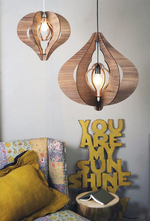 Eco Friendly Pendant Light - Grandelier Cotton Bedroom