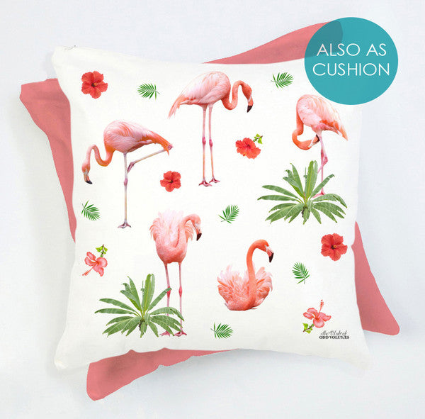 flamingoes on cushion