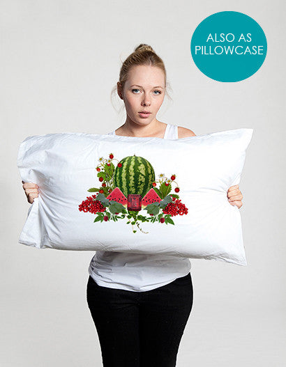 red and white pillowcase