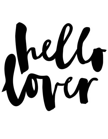 Hello Lover by Jasmine Dowling-Graphical print pillowcase