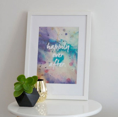 Watercolour art beautiful home decor from Rachel Kennedy