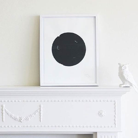 art print in black