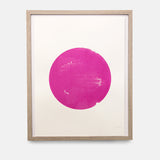Art print in bright pink