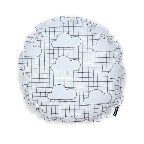 cushion with clouds