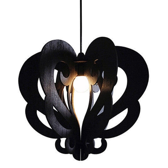 Eco friendly pendant lighting in black