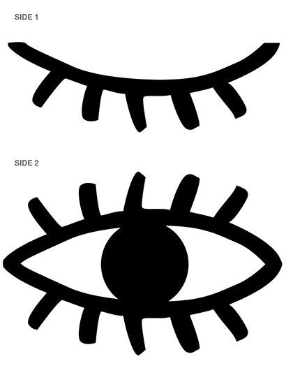 eye pattern in black and white