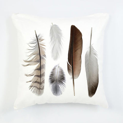 Feather pattern on cushion