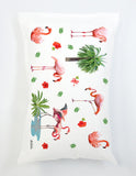 flamingo pillowcase