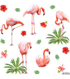 Flamingo cushion pattern