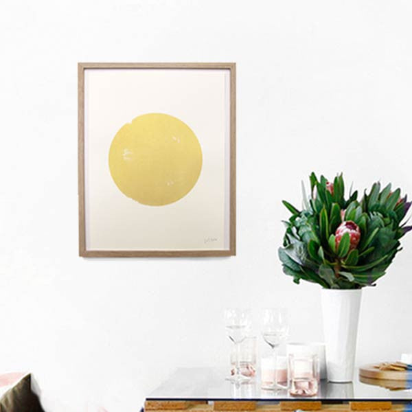 art print in gold