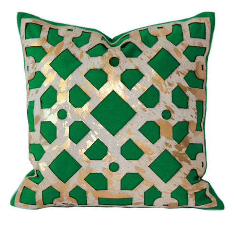 green cushion artisan made