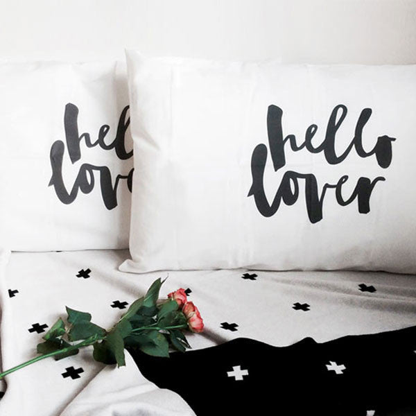 hello lover pillowcase