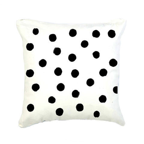 Black & White Polka Dot Cushion