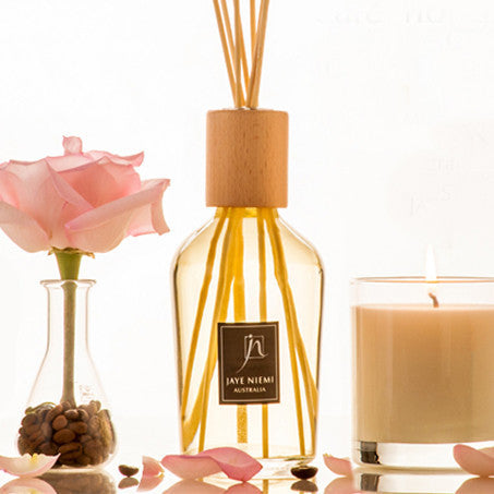 Rose and coffee scented candles