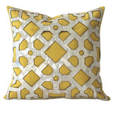 Yellow cushion artisan made