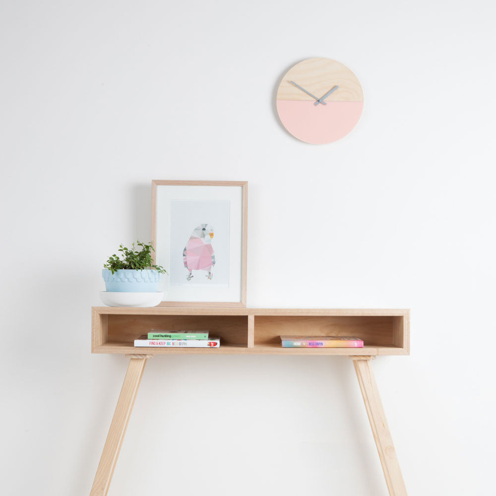Wall Clock - Blush and Timber