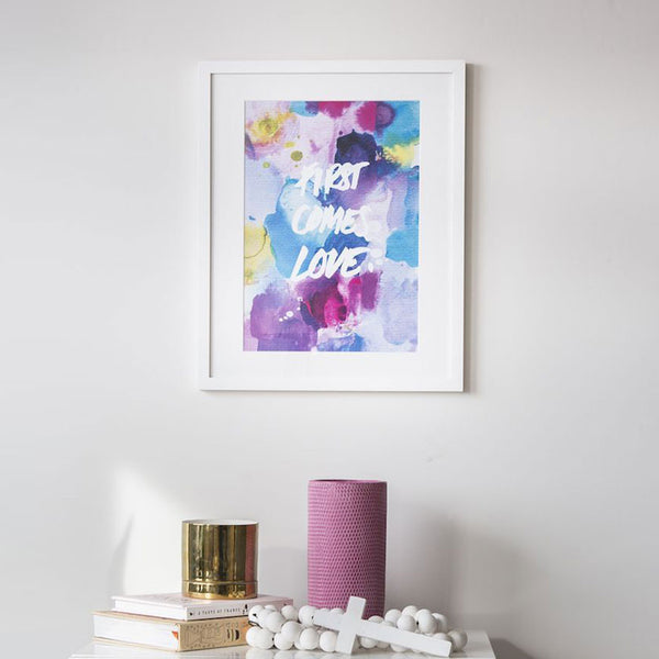 watercolour wall art