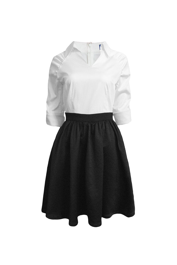 Amelie collared shirt dress