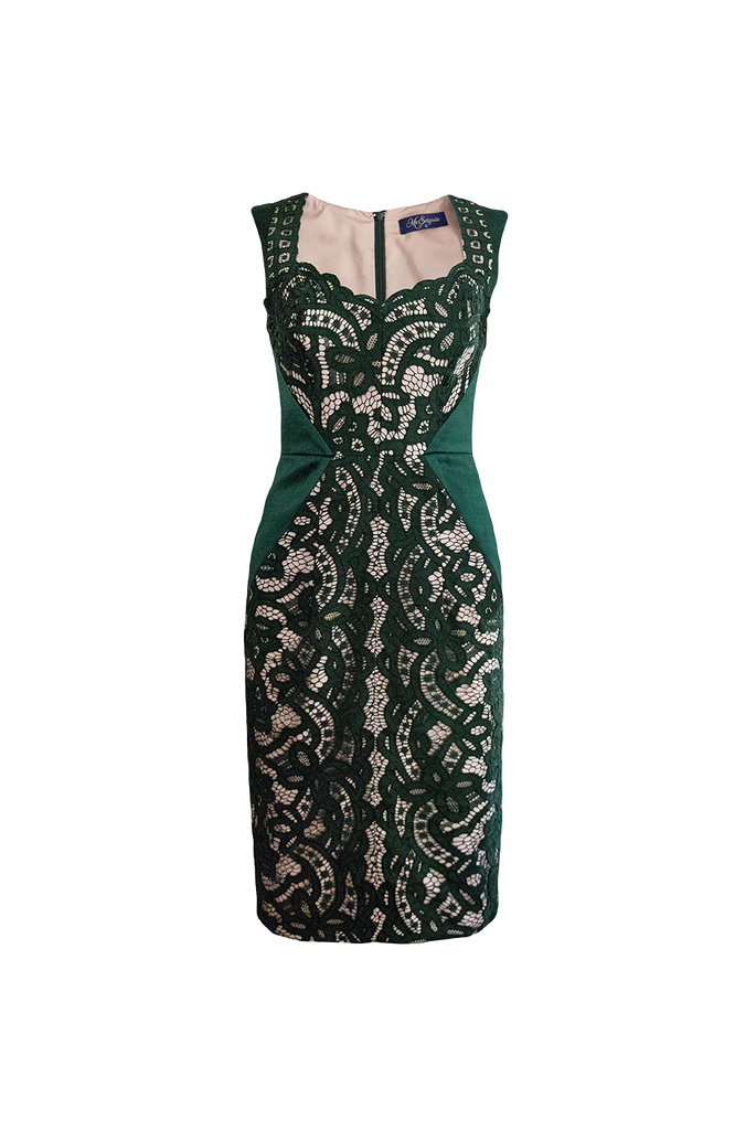 Kate emerald lace dress