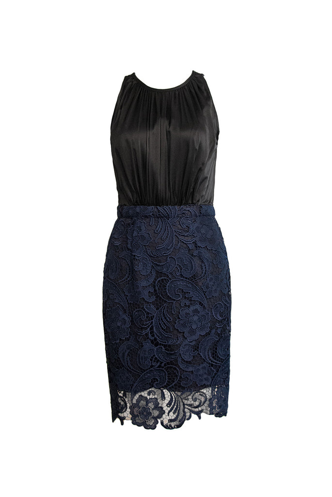 Charlotte guipure lace silk dress