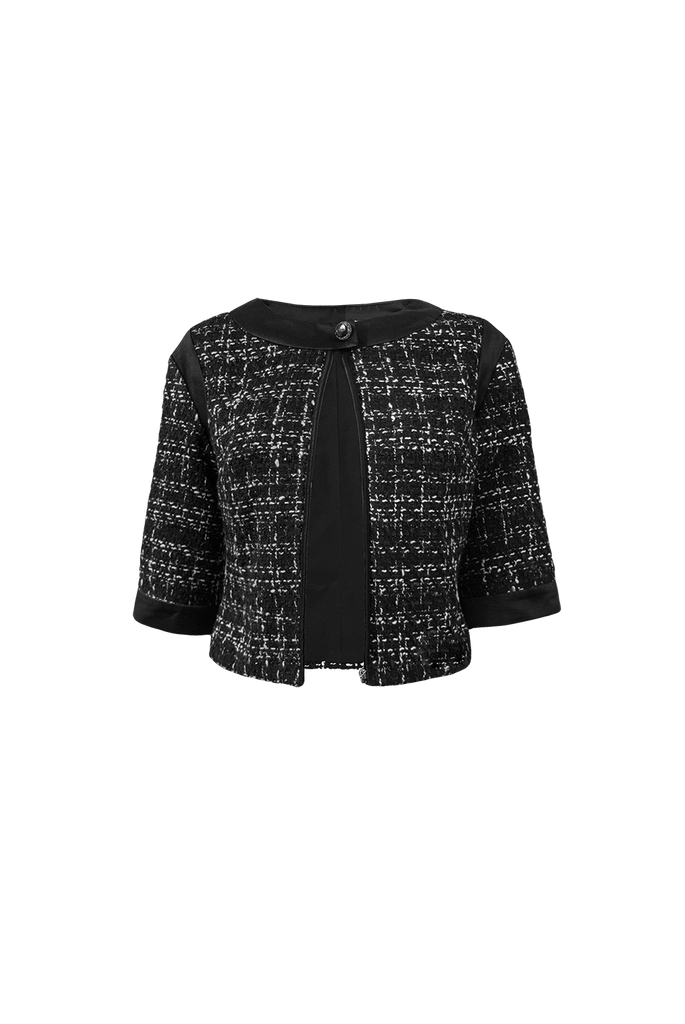Gigi cropped sleeve tweed jacket