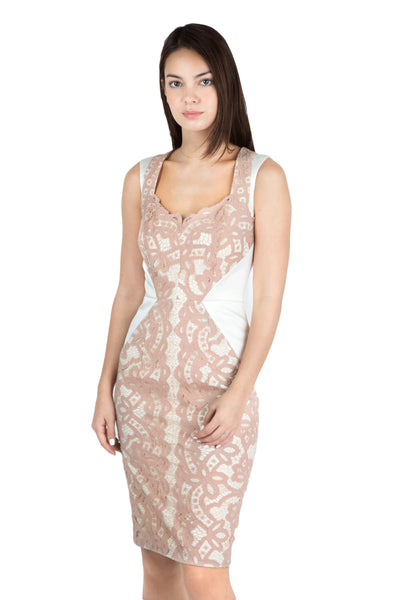 Rea blush lace dress